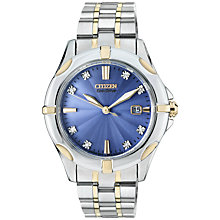 Buy Citizen EW1936-53L Women's Silhouette Diamond Mother of Pearl Two Tone Bracelet Strap Watch, Silver/Gold Online at johnlewis.com