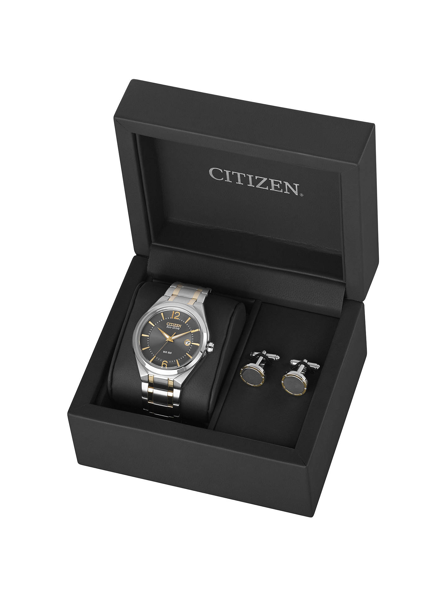 9c710997729e0 ... Buy Citizen AW1324-59H Men s Two-Tone Stainless Steel Bracelet Strap  Watch and Cufflinks