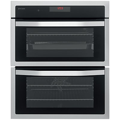 Image of John Lewis JLBIDU713 Double Built-Under Electric Oven, Stainless Steel