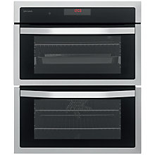 Buy John Lewis JLBIDU713 Double Built-Under Electric Oven, Stainless Steel Online at johnlewis.com