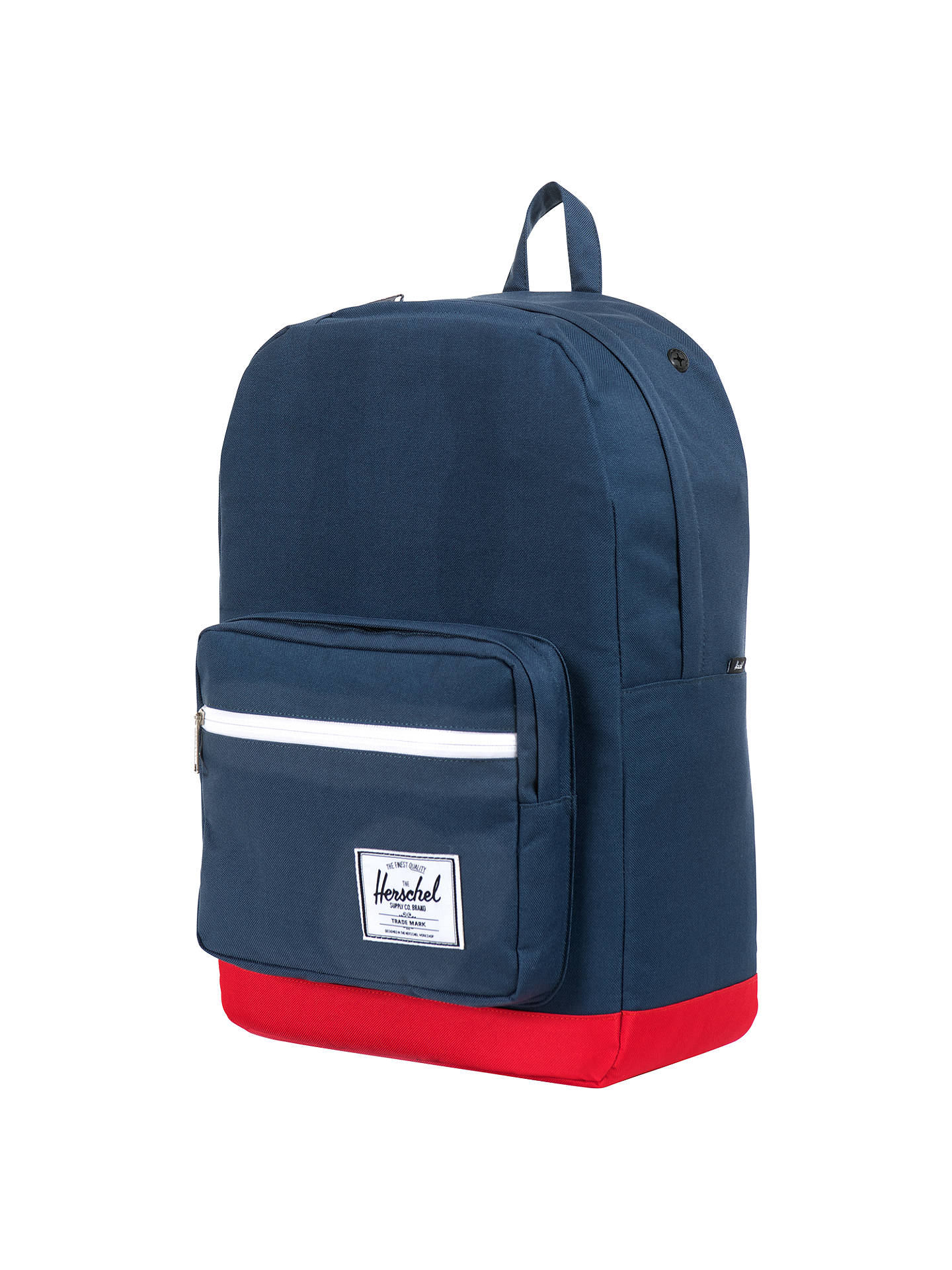 142f46ad4d0 Herschel Pop Quiz Backpack, Navy/Red at John Lewis & Partners