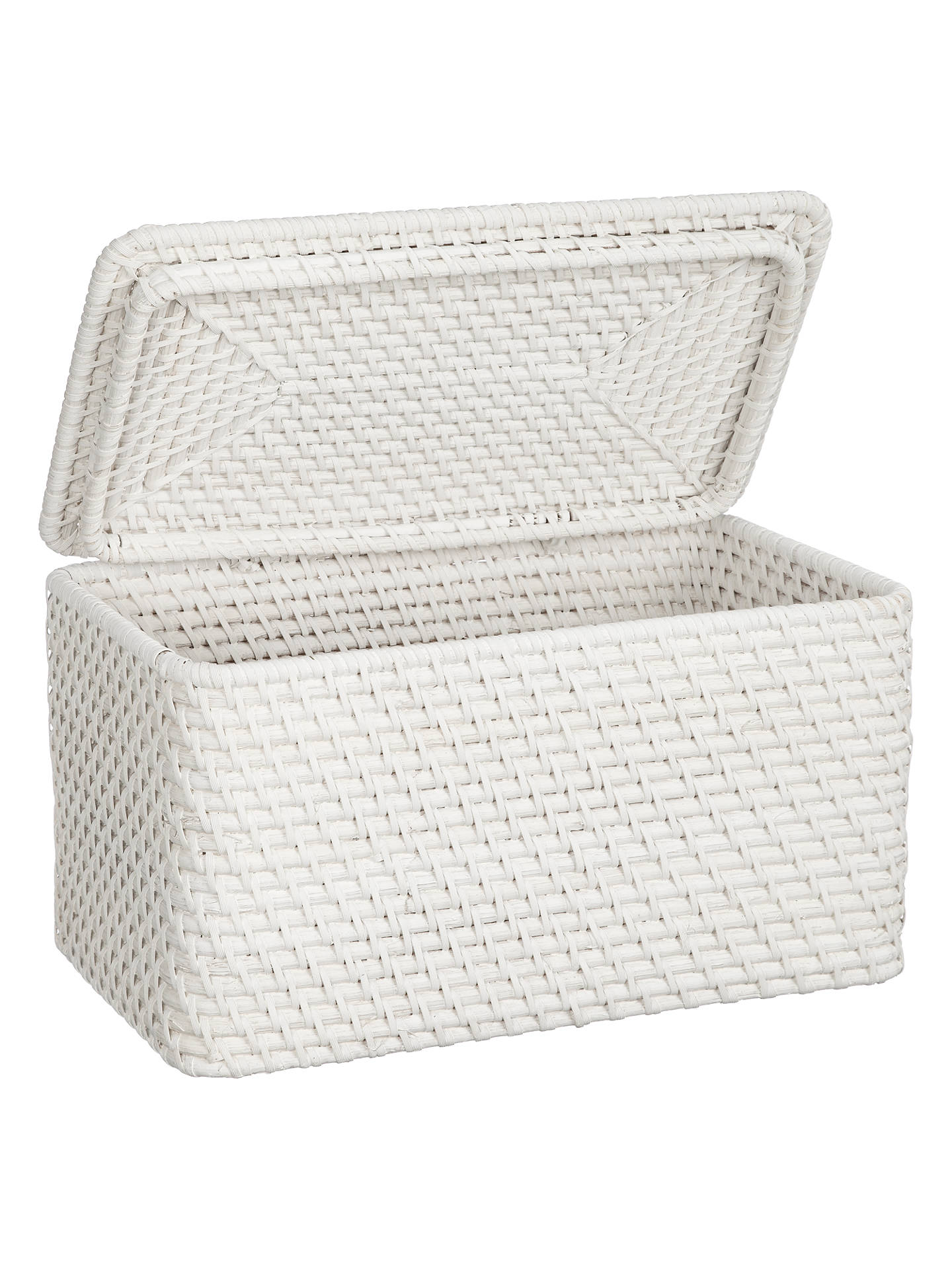 Merveilleux ... BuyJohn Lewis Croft Collection Rattan Lidded Storage Box, White Online  At Johnlewis.com ...