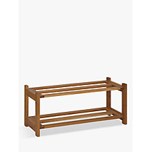 Buy John Lewis Oak Wood Shoe Rack, 2 Tier Online at johnlewis.com