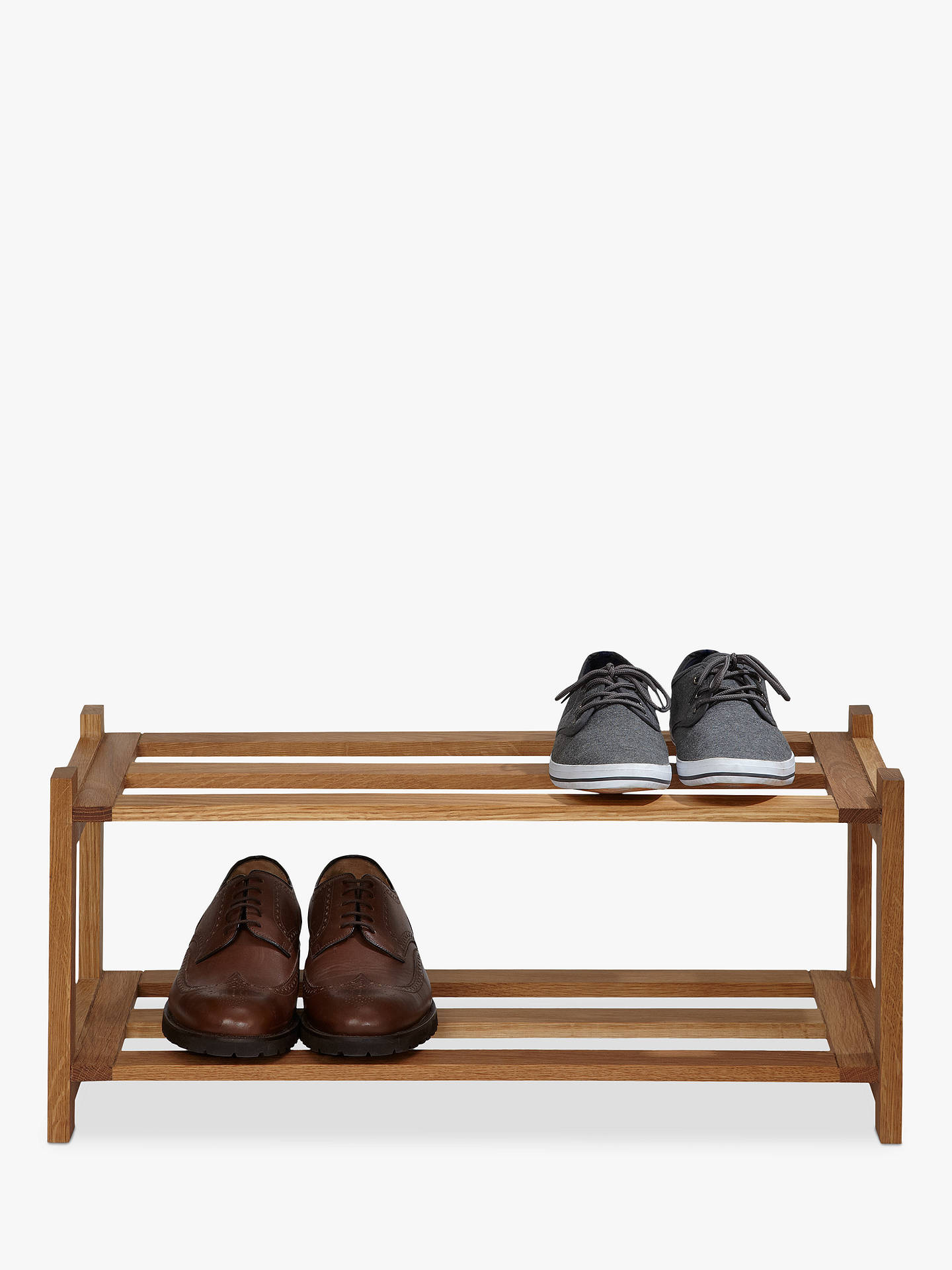 BuyJohn Lewis & Partners Oak Wood Shoe Rack, 2 Tier Online at johnlewis.com