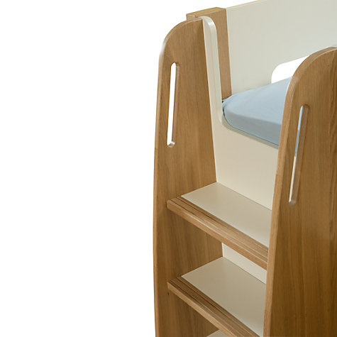 Buy Stompa Curve Midsleeper, Silk White / Oak Online at johnlewis.com