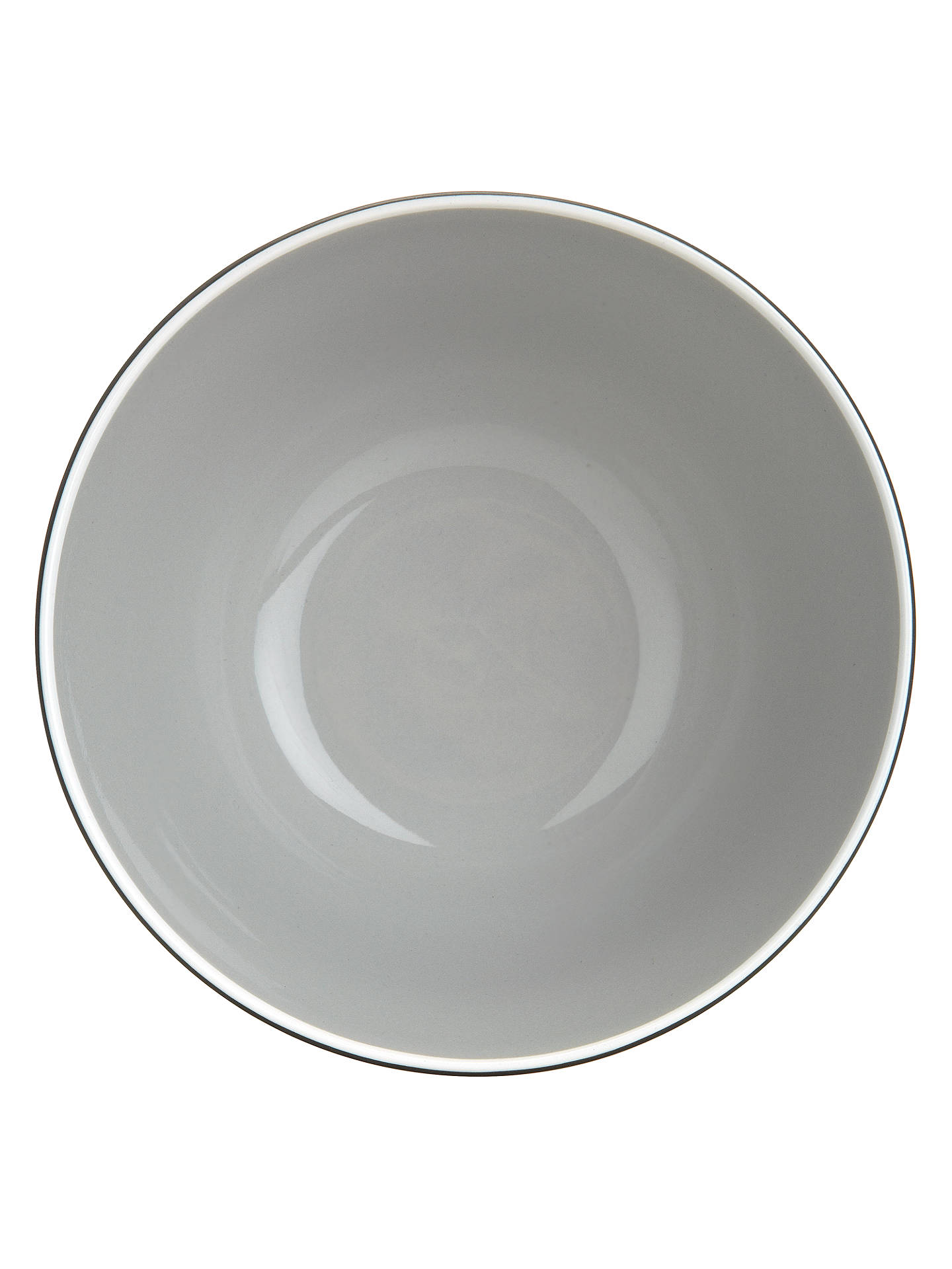 BuyJohn Lewis & Partners Puritan Cereal Bowl, Grey, Dia.15.5cm Online at johnlewis.com