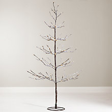 Buy John Lewis 4ft Pre-Lit Snowy Twig Christmas Tree, White Online at johnlewis.com