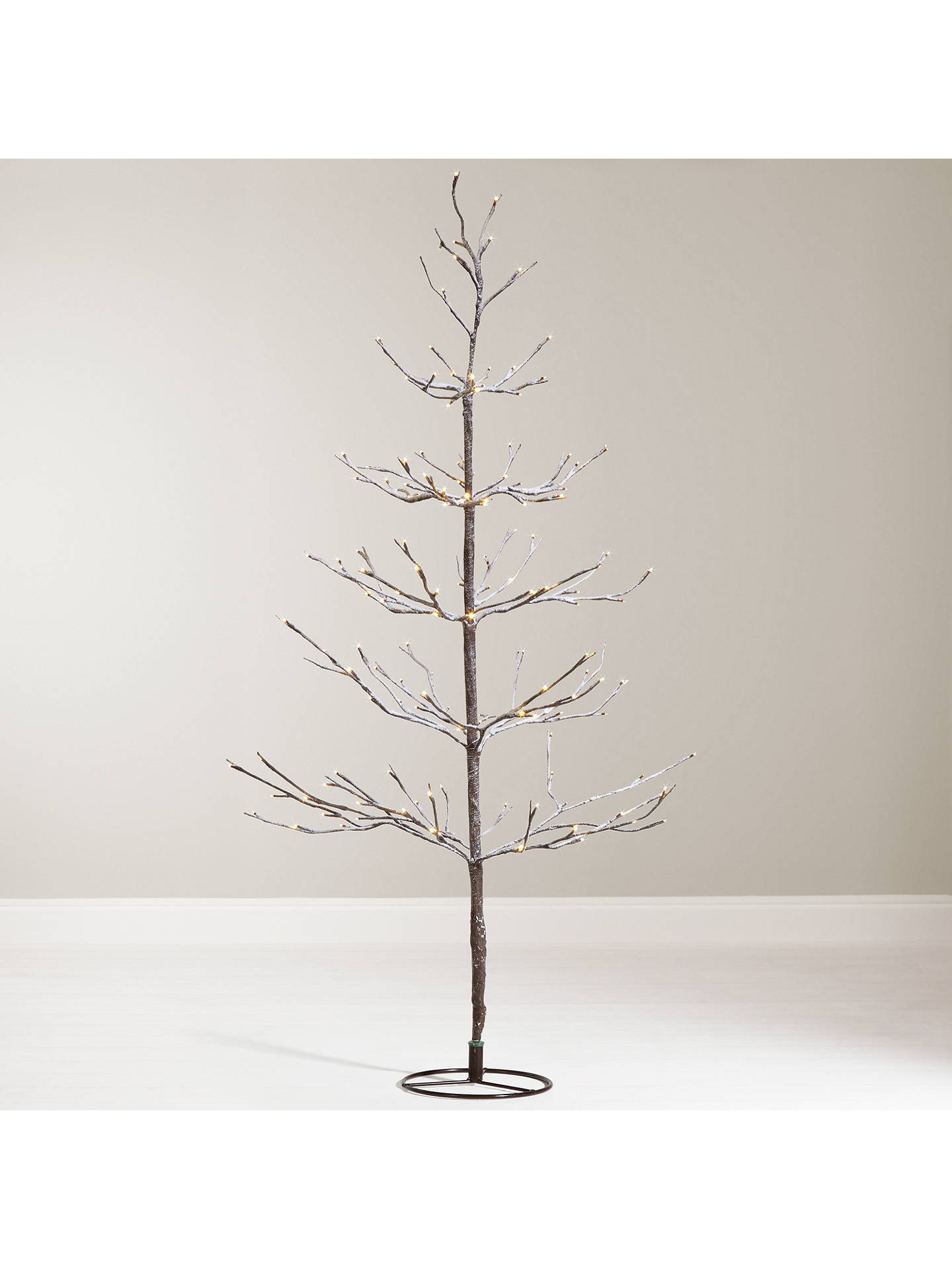 John Lewis 4ft Pre Lit Snowy Twig Christmas Tree White At