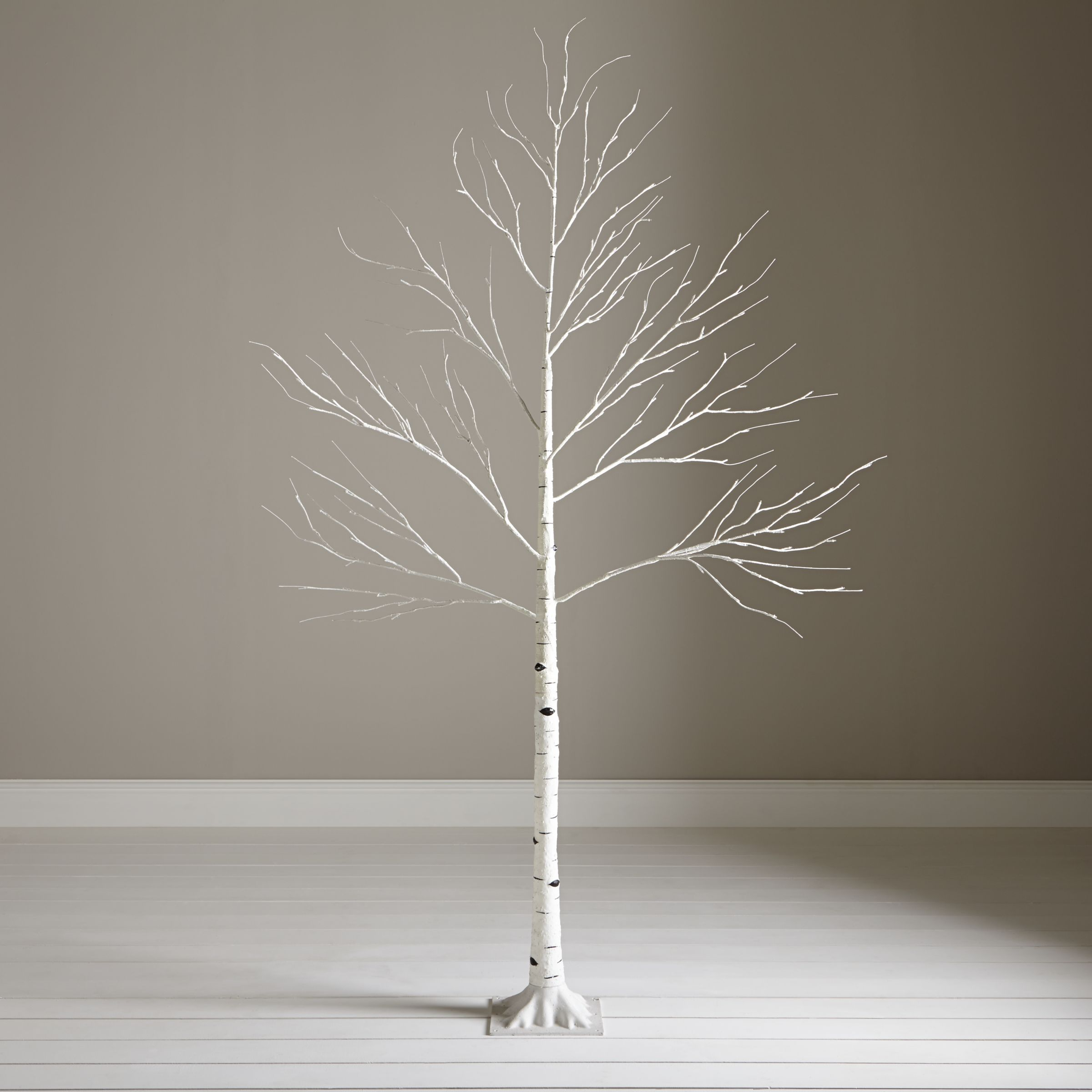 john lewis pre lit paper birch christmas tree white 6ft at john lewis partners