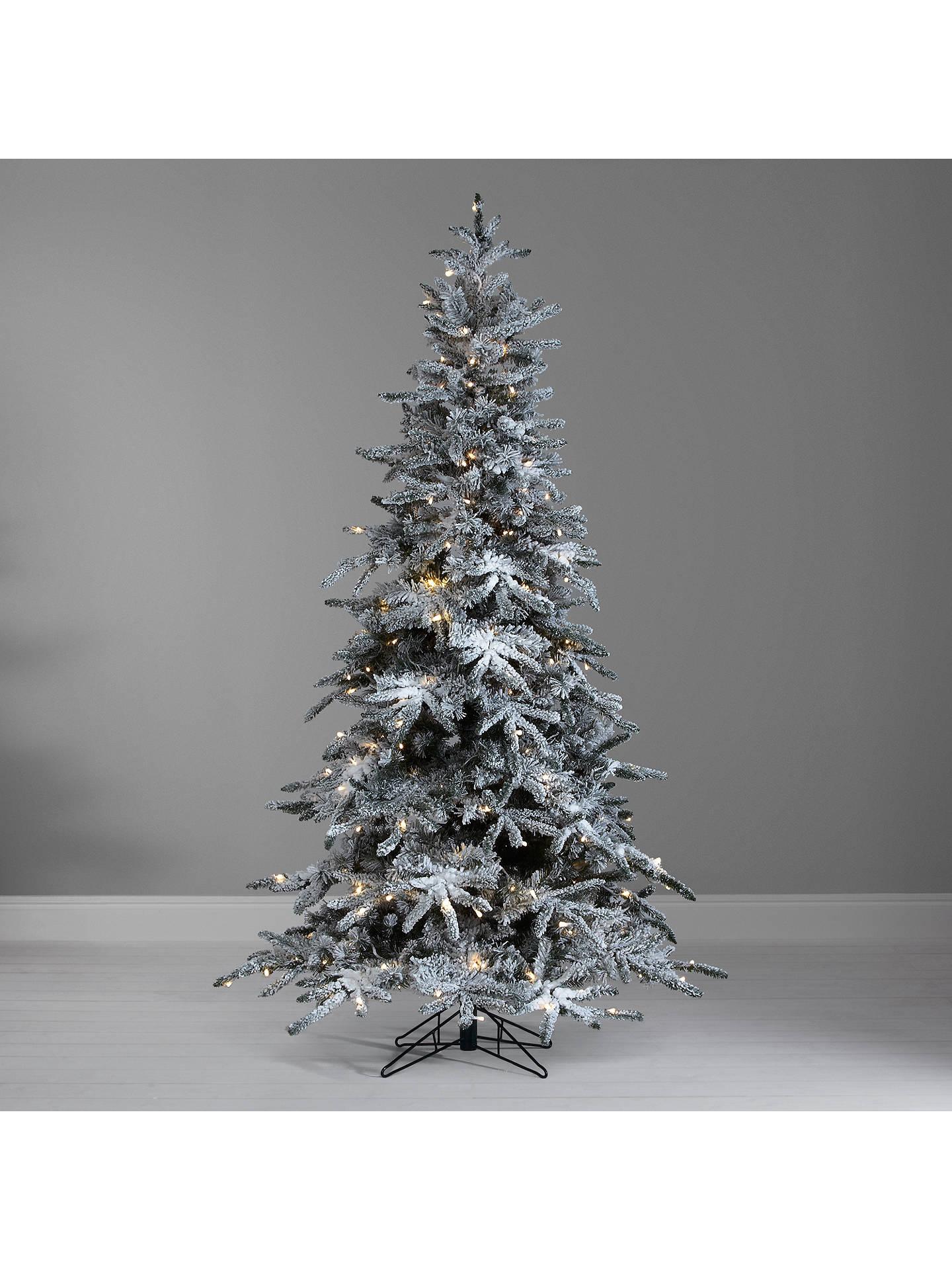 John Lewis Pre Lit Snowy Mountain Pine Christmas Tree 7ft At John