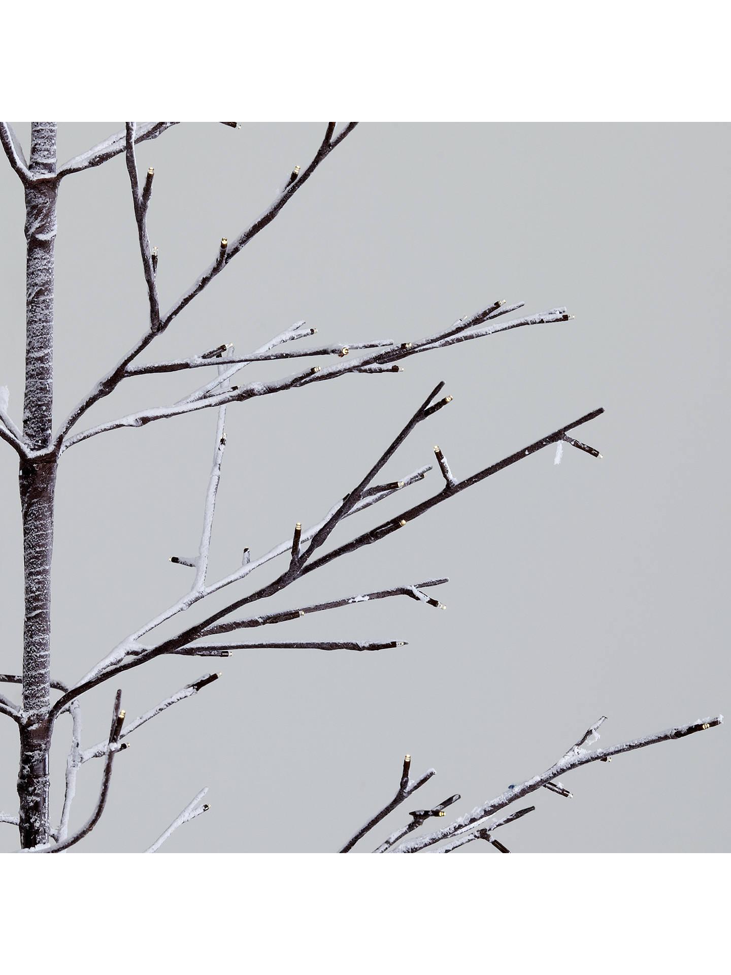 John Lewis Pre-Lit Snowy Twig Christmas Tree, White, 8ft at John Lewis & Partners