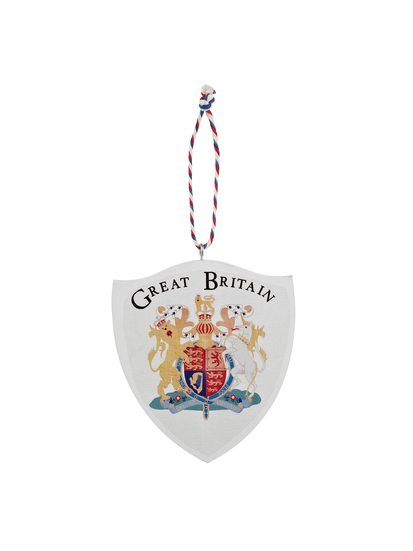 Deck The Halls Wooden Coat Of Arms Shield Hanging Decoration At John