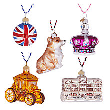 Buy Bombki Tourism Little Royal London Glass Hanging Decorations, Set of 5 Online at johnlewis.com