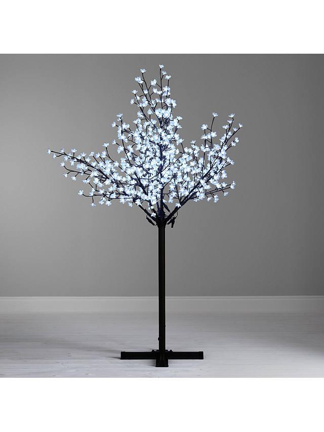John Lewis Pre Lit Cherry Blossom Christmas Tree Cool White 7ft At John Lewis Partners