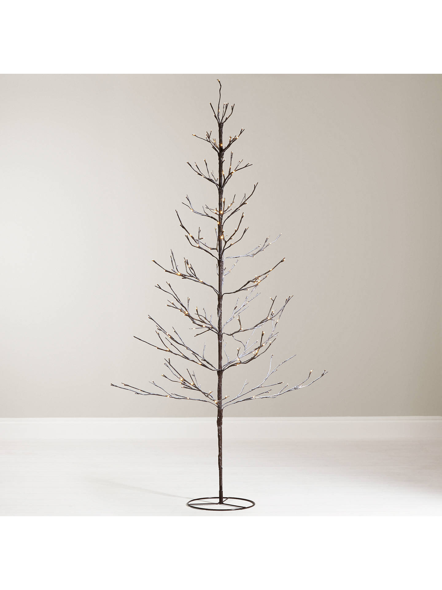 buyjohn lewis 6ft pre lit snowy twig christmas tree white online at johnlewis