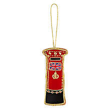 Buy Tinker Tailor Tourism Union Jack Post Box Tree Decoration Online at johnlewis.com