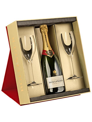Buy Bollinger Special Cuvée Champagne and 2 Glasses Set, 75cl Online at johnlewis.com