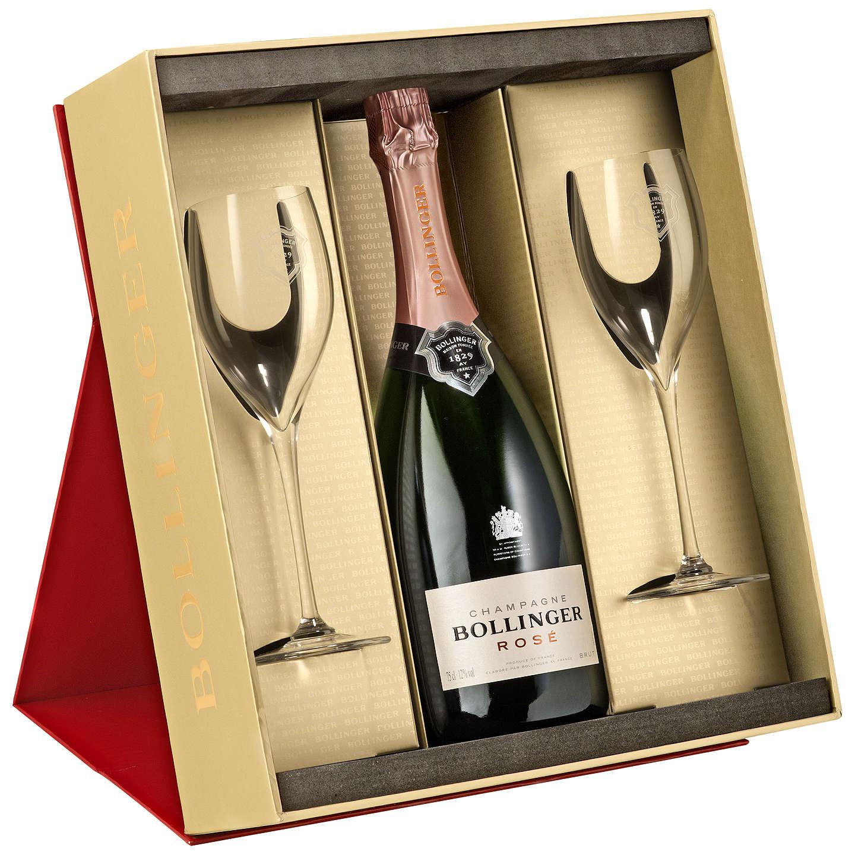 John Lewis Gift List Wedding: Bollinger Rosé Champagne And 2 Flutes Set, 75cl At John Lewis