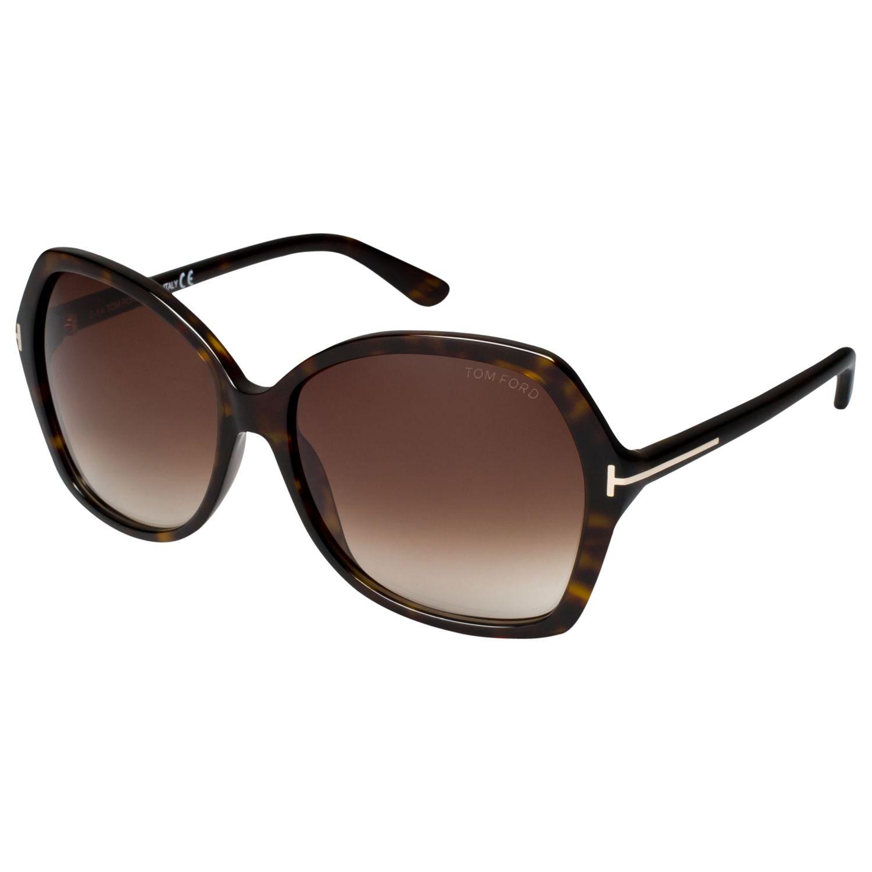 Tom Ford TOM FORD FT0328 Carola Squared Sunglasses, Havana