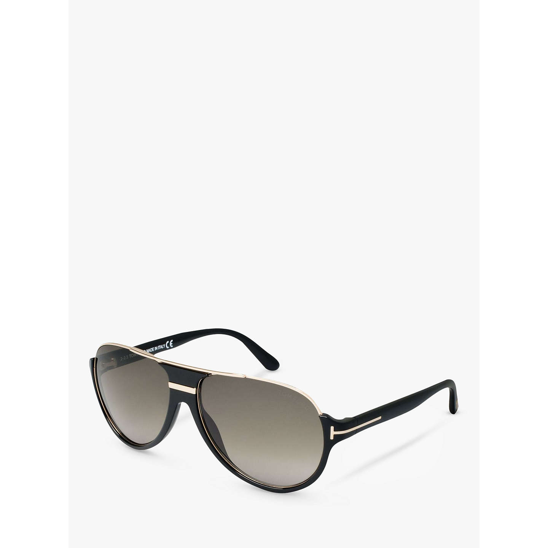 BuyTOM FORD FT0334 Dimitry Vintage Aviator Sunglasses, Black Online at  johnlewis.com ...