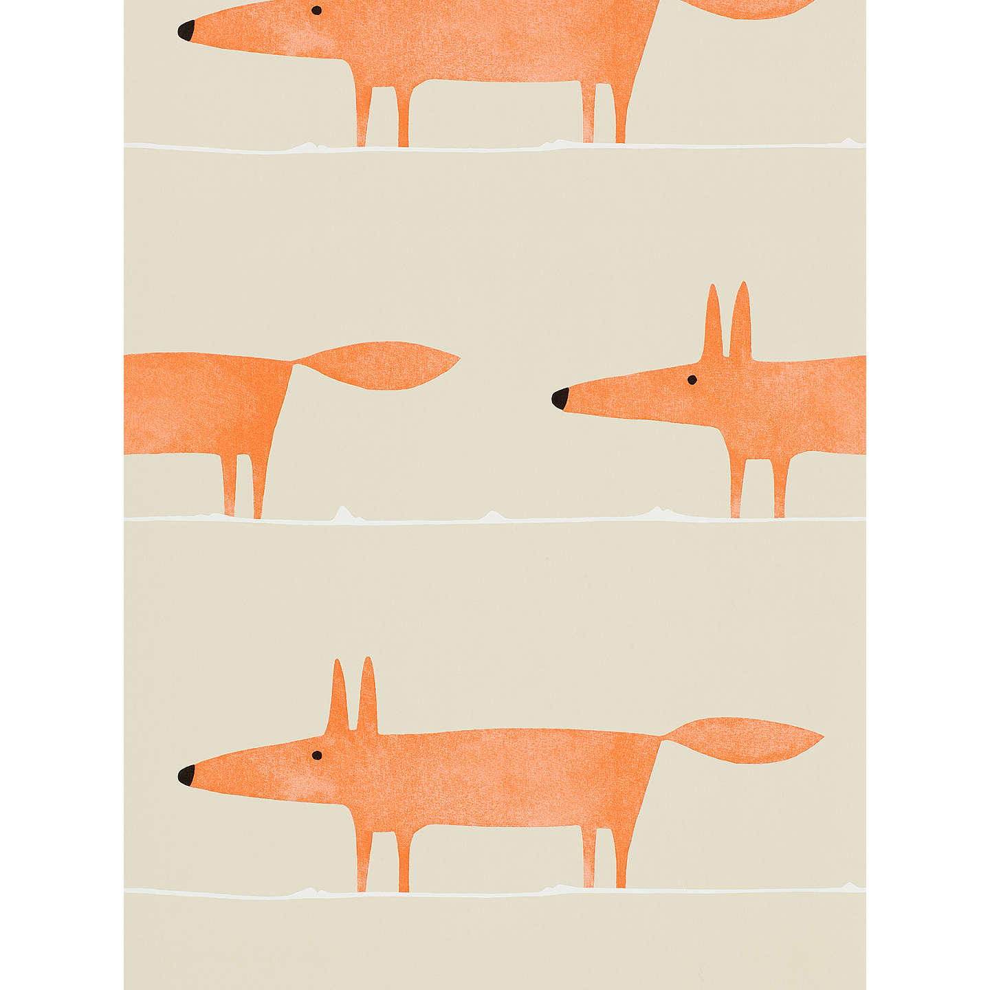 BuyScion Mr Fox Paste The Wall Wallpaper, 110847 Online At Johnlewis.com ...