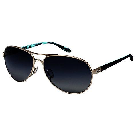 oakley aviators on sale  buy oakley 004079 feedback polarised aviator sunglasses, polished chrome online at johnlewis