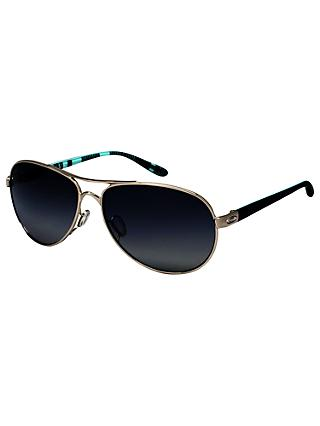 Oakley OO4079 Women's Feedback Polarised Aviator Sunglasses