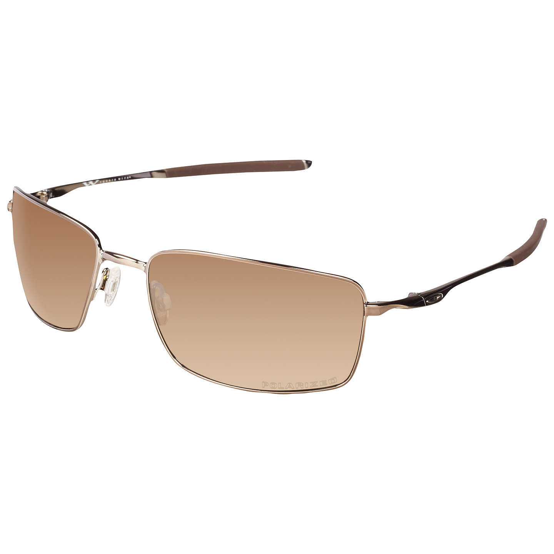 Oakley OO4075 Plaintiff™ Squared Metal Frame Polarised Sunglasses at ...