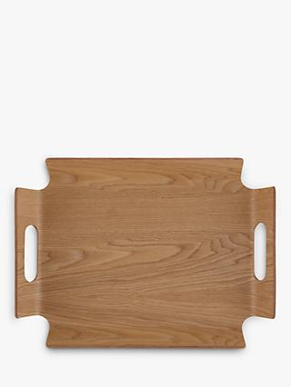 John Lewis & Partners Handled Frame Wood Tray