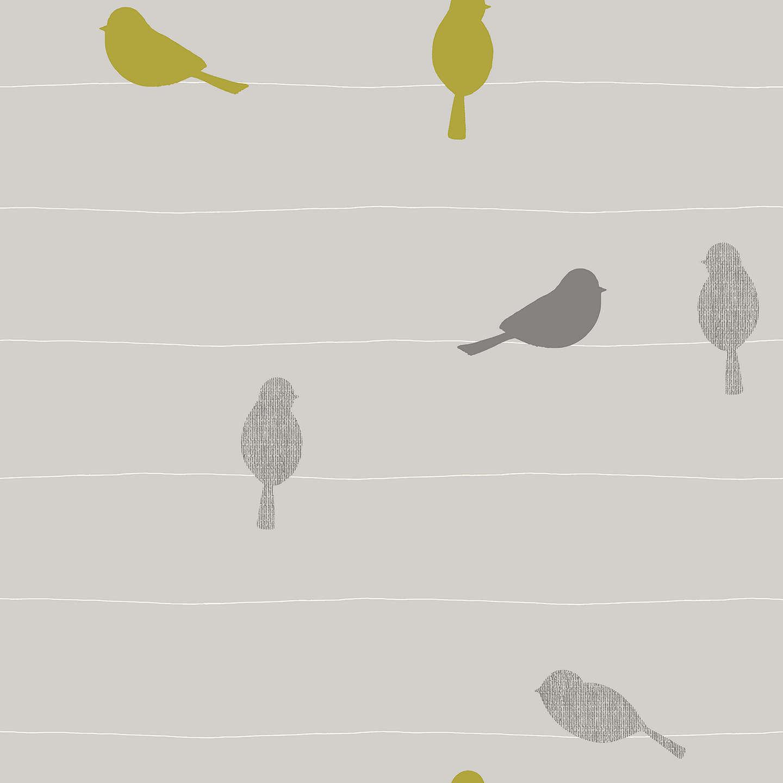 John Lewis Bird on a Wire Wallpaper, Smoke at John Lewis