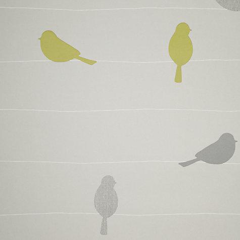 Buy john lewis bird on a wire wallpaper smoke john lewis for John lewis bathroom wallpaper