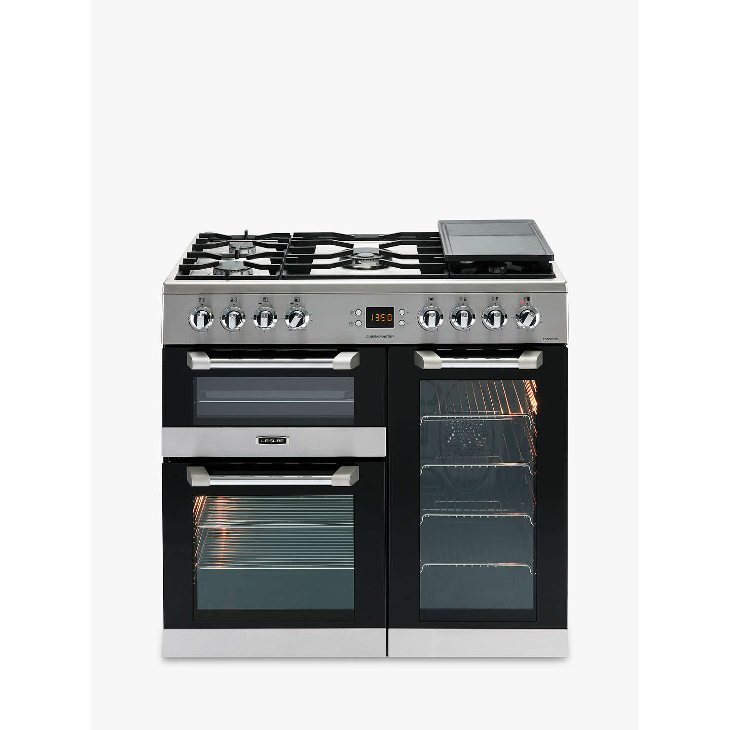 BuyLeisure CS90F530X Cuisinemaster Dual Fuel Range Cooker, Stainless Steel Online at johnlewis.com