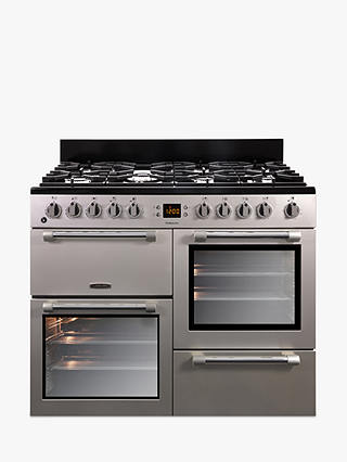Buy Leisure CK100F232S Cookmaster Dual Fuel Range Cooker, Silver Online at johnlewis.com