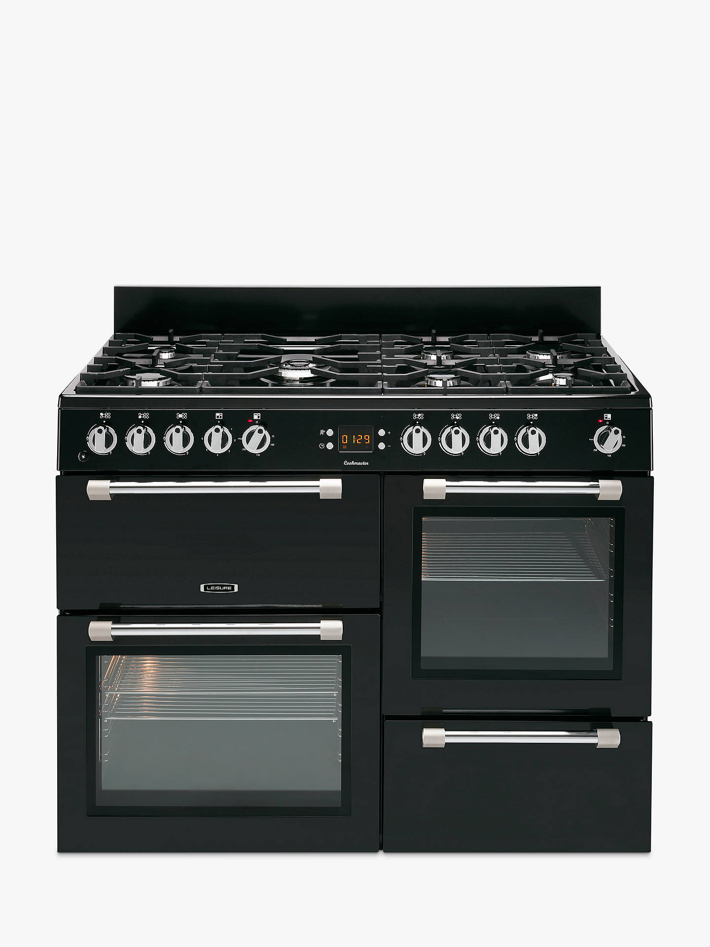 Buy Leisure CK110F232K Cookmaster Dual Fuel Range Cooker, Black Online at johnlewis.com