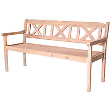 Buy LG Outdoor Hanoi 3-Seat Crossback Bench, FSC-certified (Acacia) Online at johnlewis.com