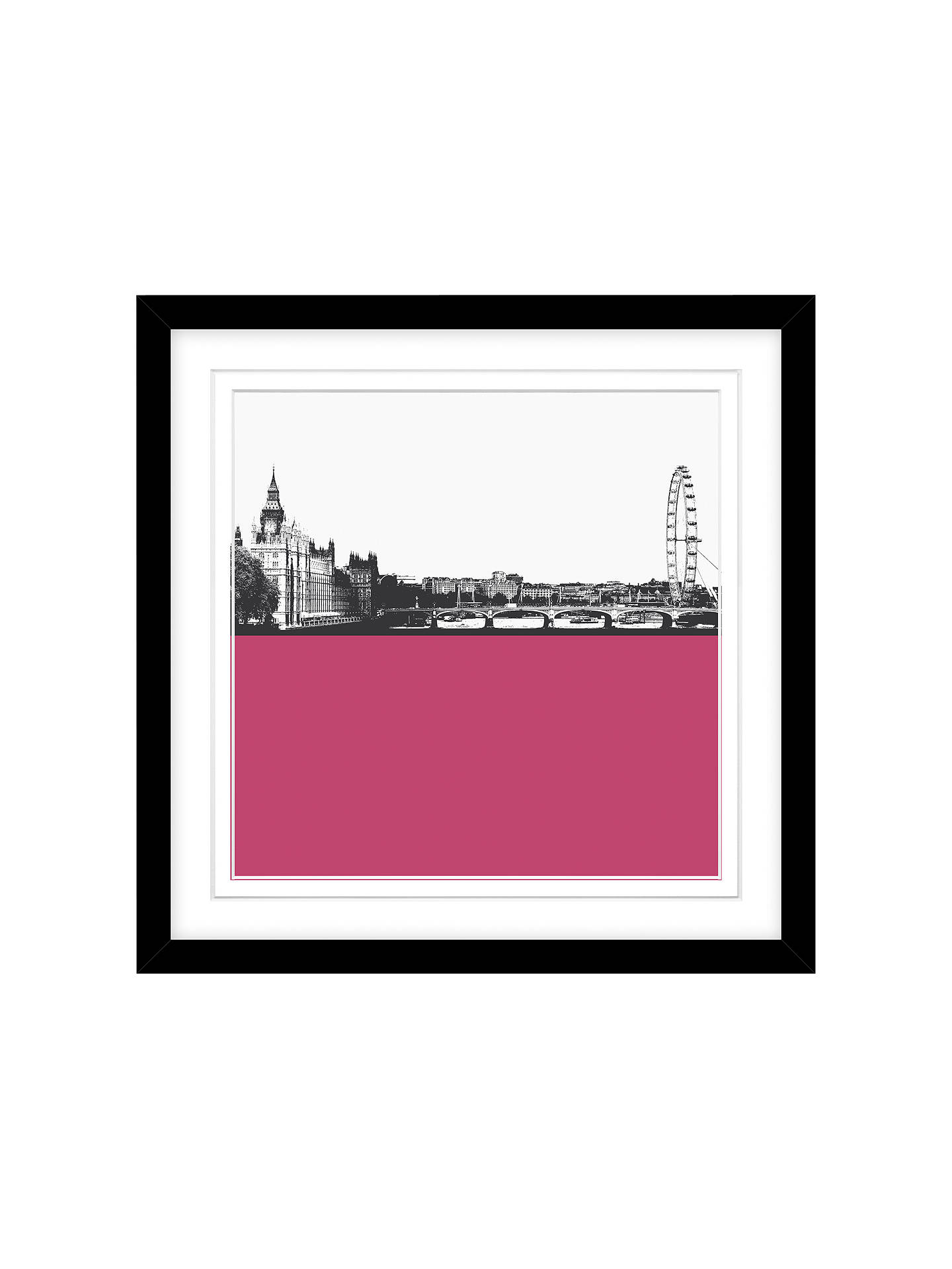 Buy Jacky Al-Samarraie London Skyline Framed Print,  54 x 54cm Online at johnlewis.com
