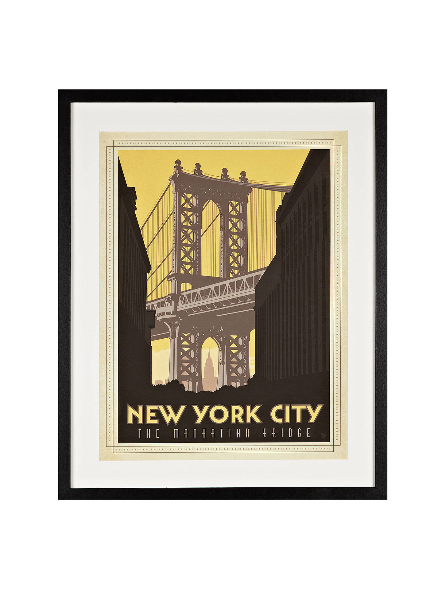 New York City Framed Print, 65 X 52cm At John
