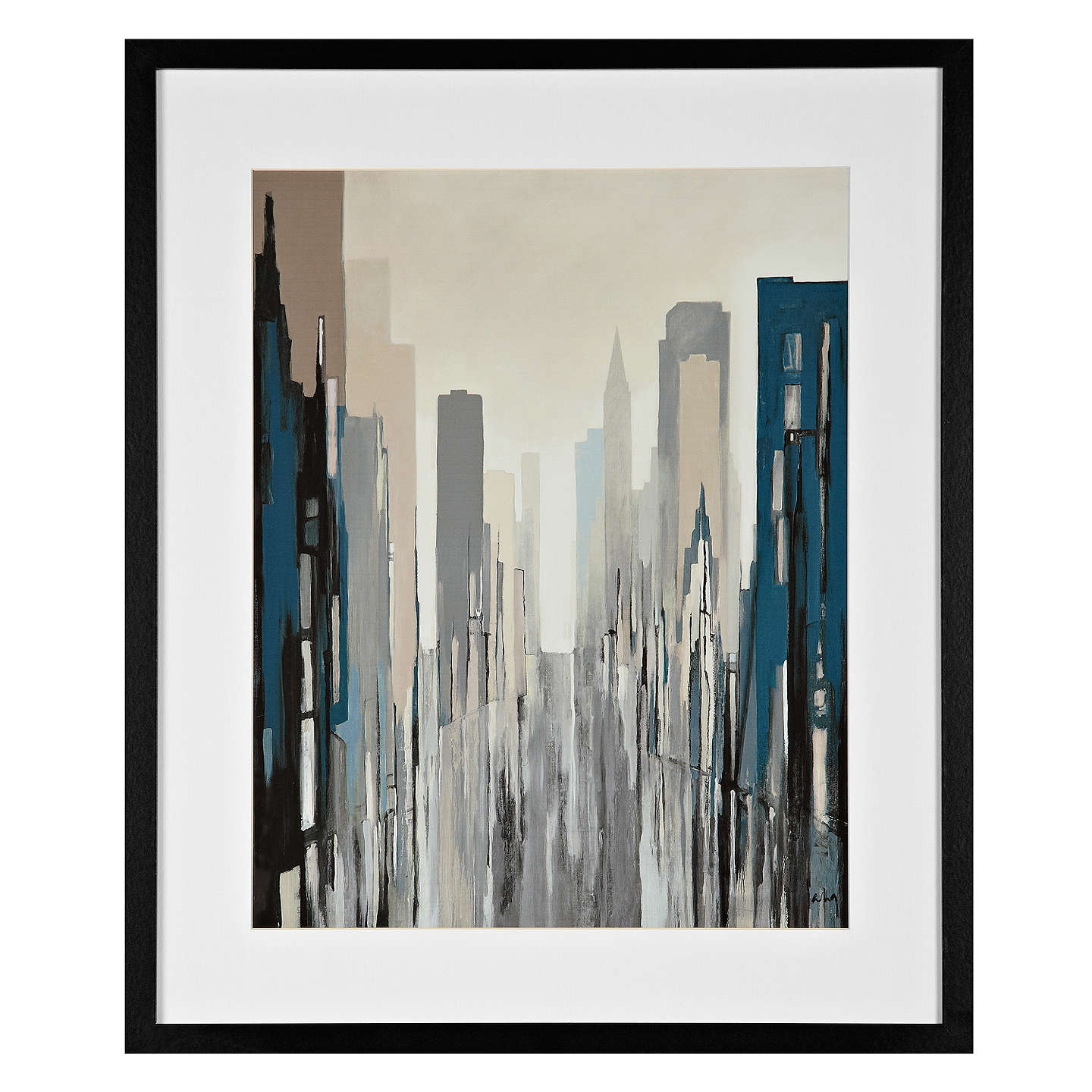 BuyGregory Lang - Metropolitan View Blue Framed Print, 59 x 49cm Online at johnlewis.com