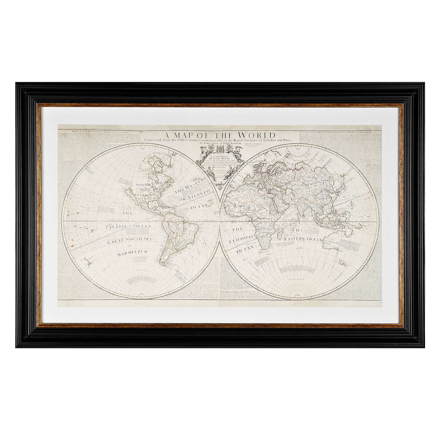 Anonymous world map framed print 74 x 108cm at john lewis buyanonymous world map framed print 74 x 108cm online at johnlewis gumiabroncs Image collections