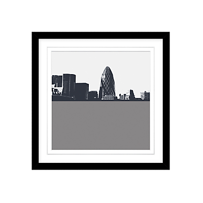 Jacky Al-Samarraie The Gherkin Framed Print, 54 x 54cm