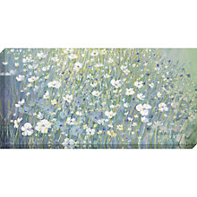 Buy Catherine Stephenson - Hazy Daisies Print on Canvas, 60 x 120cm Online at johnlewis.com