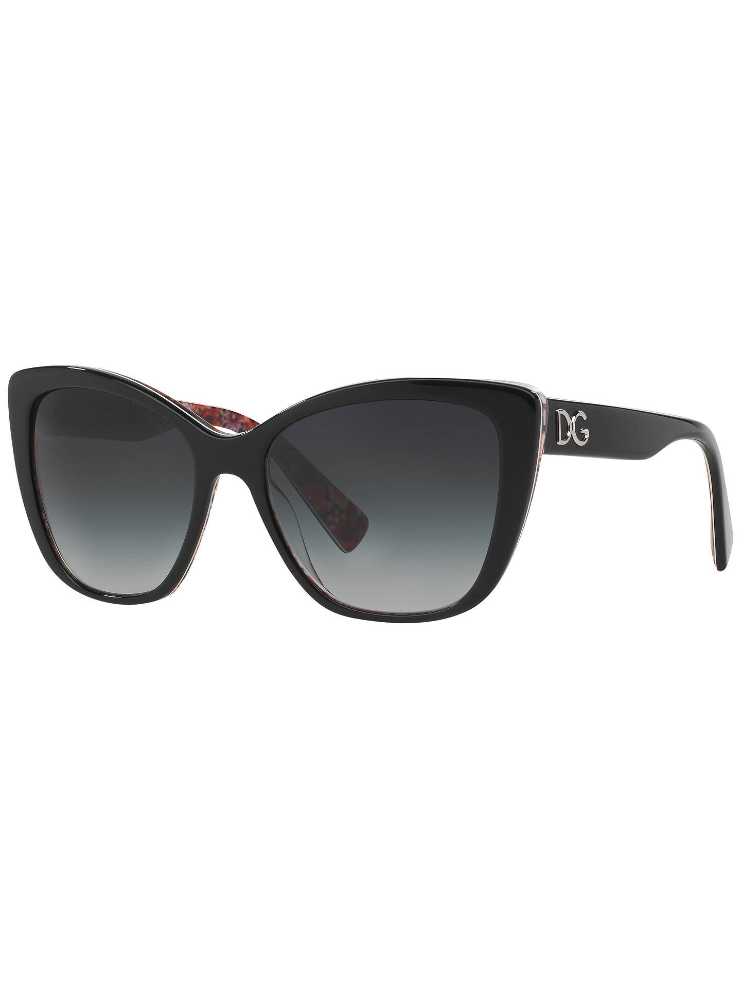 f869bdaf014f Dolce   Gabbana DG4216 Cat s Eye Floral Arm Sunglasses at John Lewis ...