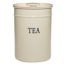 Buy John Lewis Classic Enamel Tea Canister Online at johnlewis.com