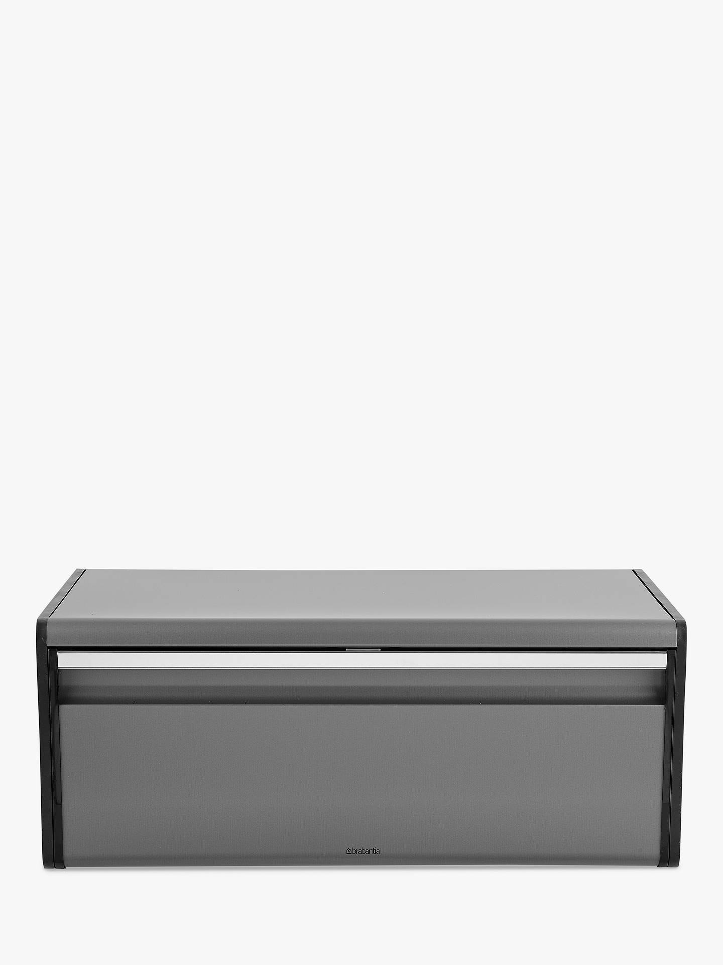Buy Brabantia Fall Front Bread Bin, Platinum Online at johnlewis.com