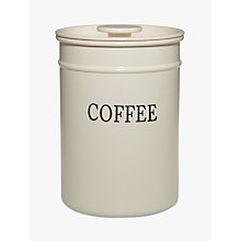 Buy John Lewis Classic Enamel Coffee Canister Online at johnlewis.com