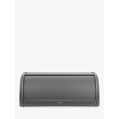 Brabantia Roll Top Bread Bin, Platinum