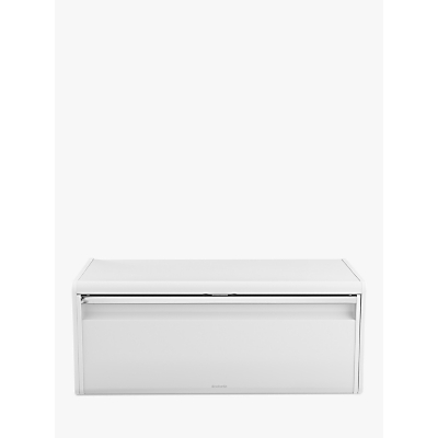 Brabantia Fall Front Bread Bin, White