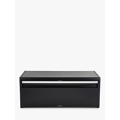 Brabantia Fall Front Bread Bin, Matt Black