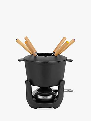 John Lewis & Partners Cast Iron Fondue Set