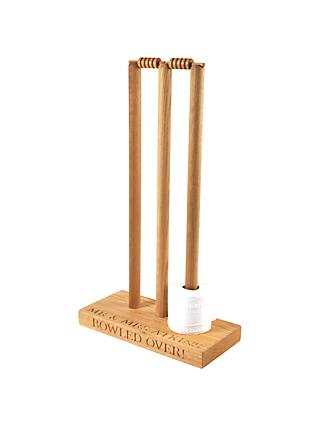 The Oak And Rope Company Personalised Cricket Toilet Roll Holder